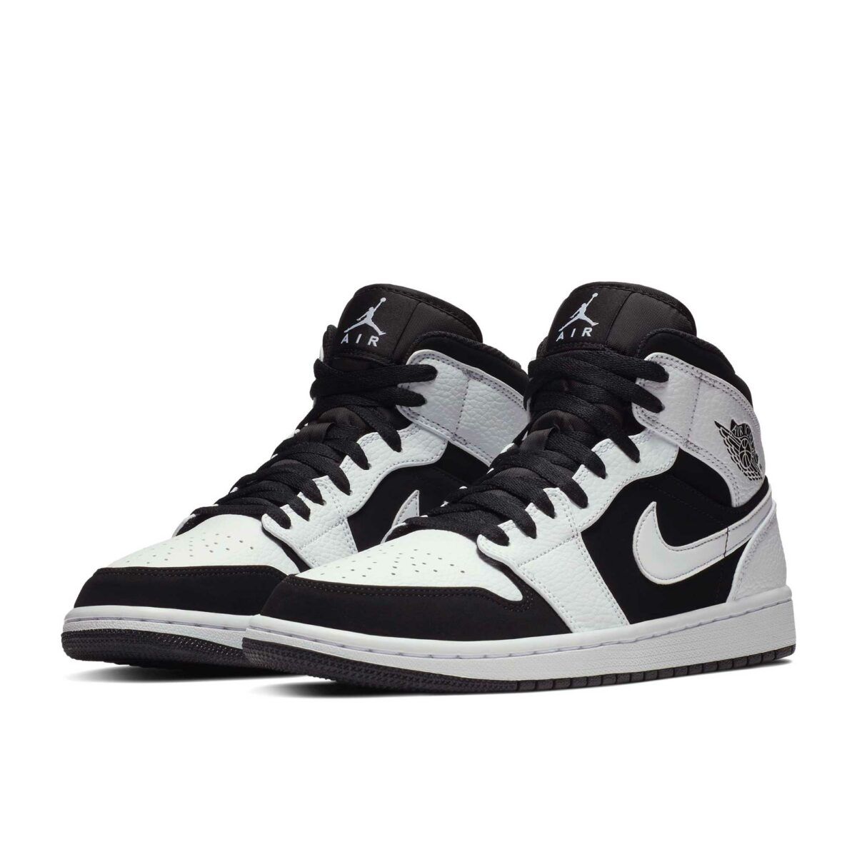 nike air jordan mid white black 554724_113 купить
