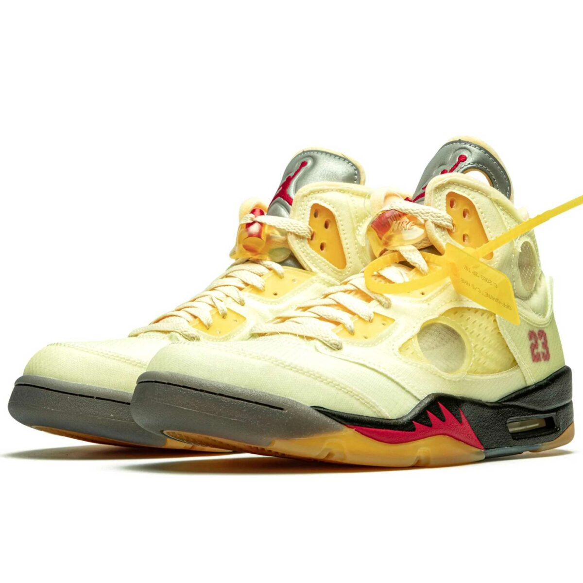 nike x off-white air Jordan 5 sail DH8565_100 купить
