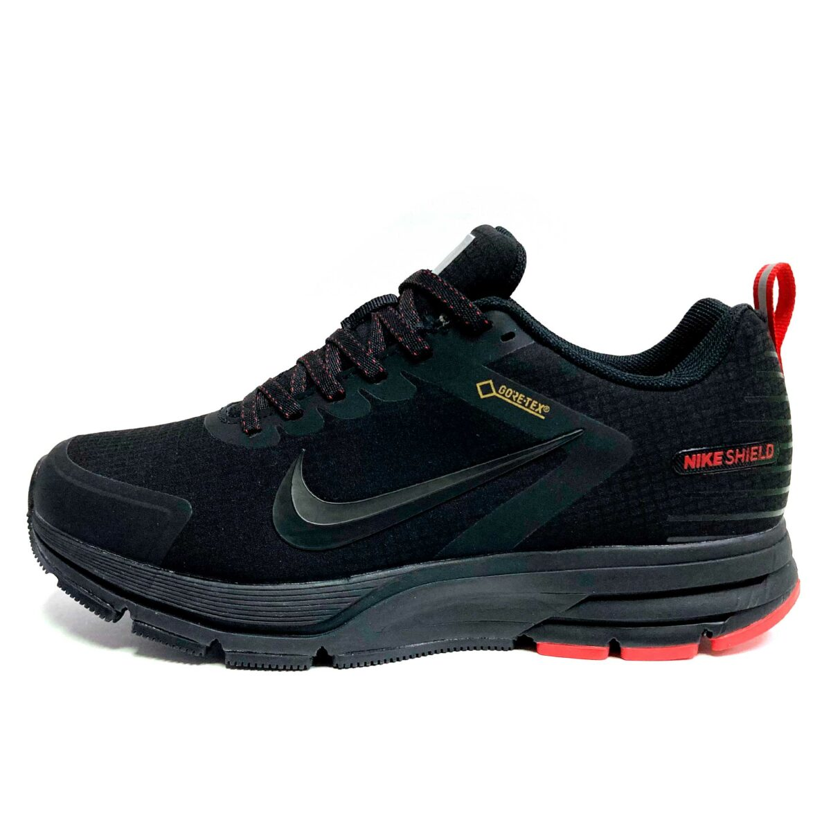 nike pegasus shield black red купить