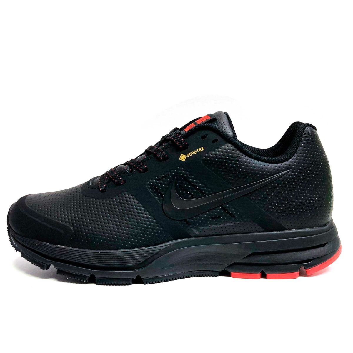 nike pegasus lether black red купить