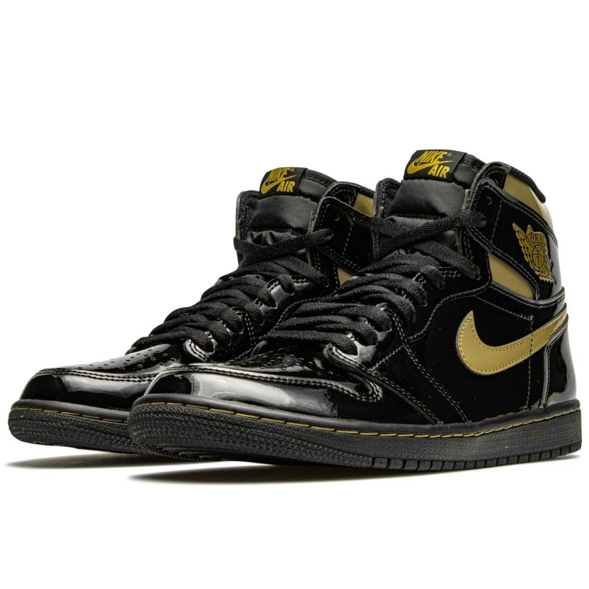 nike air Jordan 1 retro high og black metallic gold 555088_032 купить