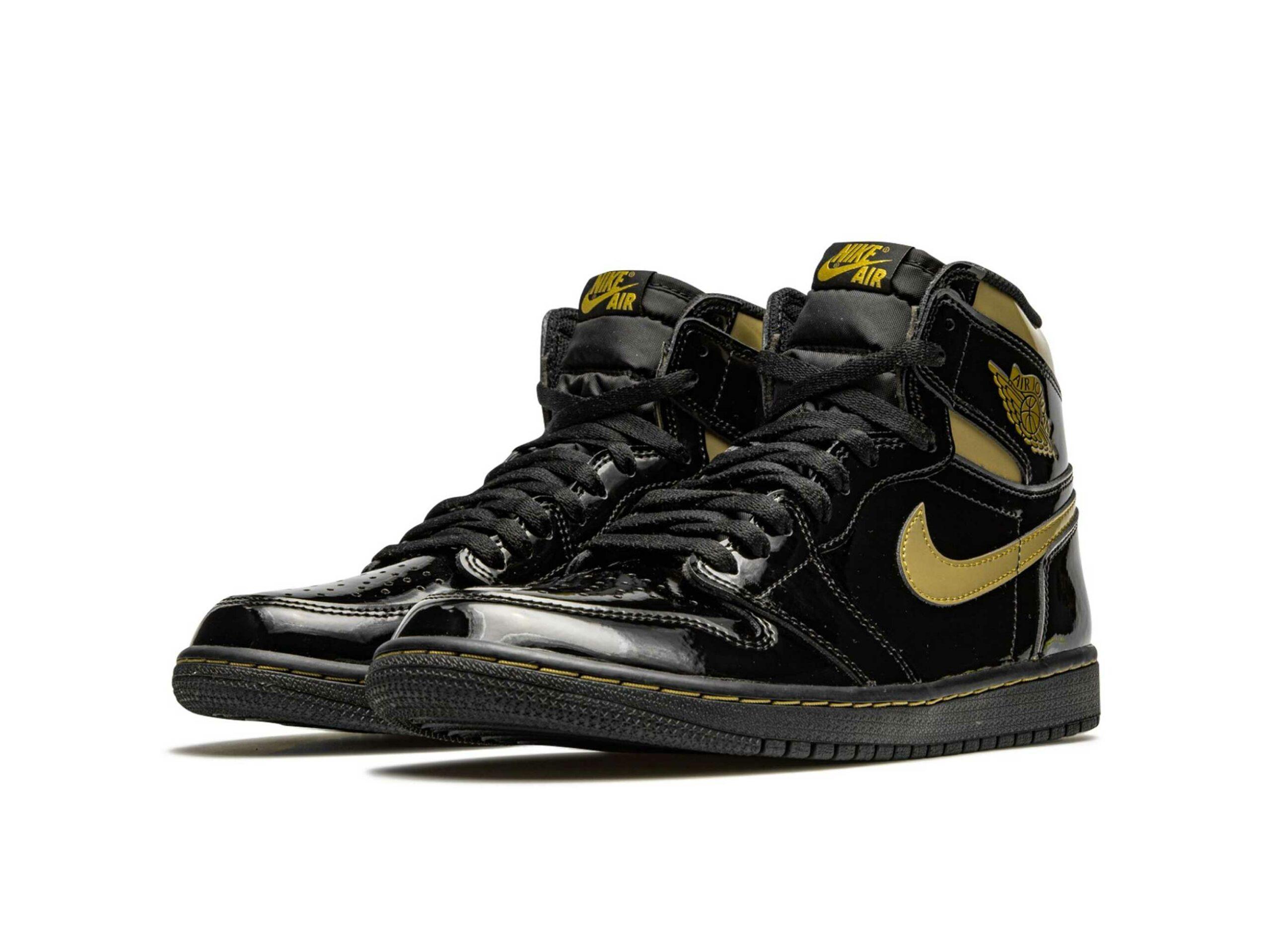 nike air Jordan 1 retro high og black metallic gold 555088_032 купить