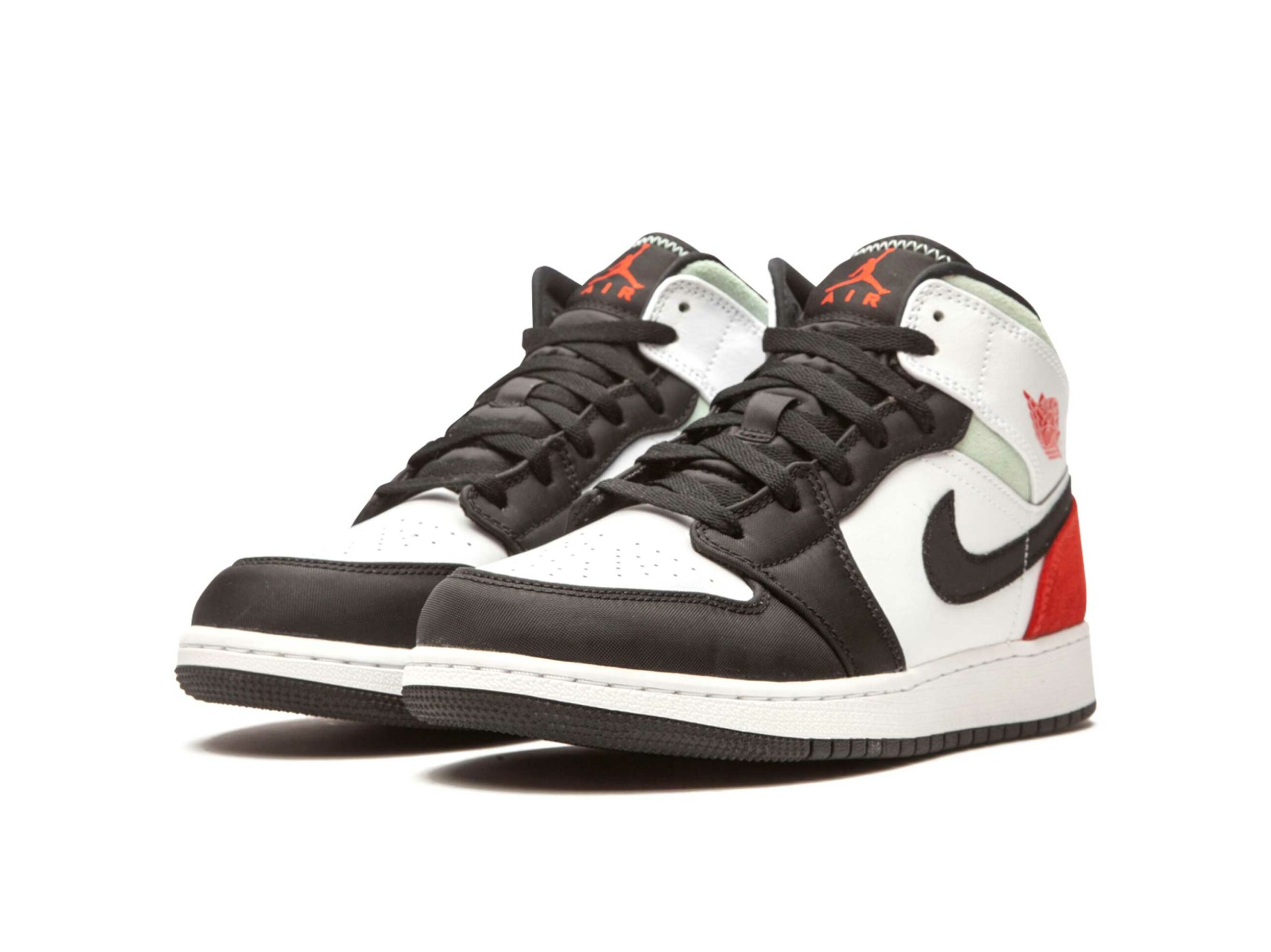 nike air Jordan 1 retro mid se gs red grey black toe BQ6931_100 купить