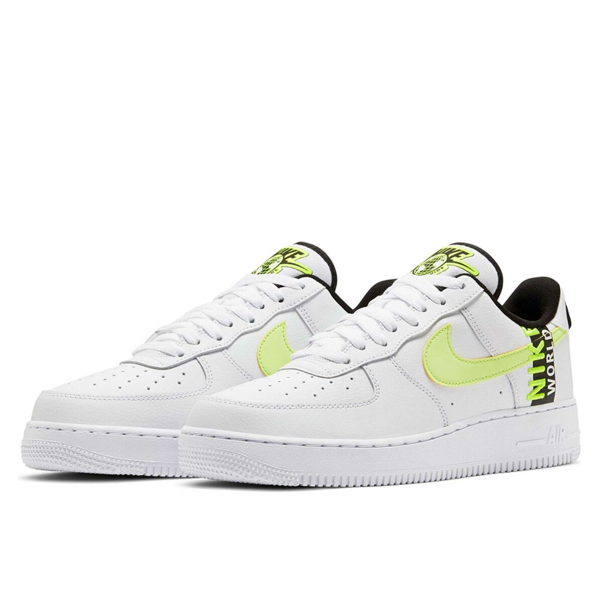nike air force 1 07 lv8 worldwide white yellow ck6924_101 купить