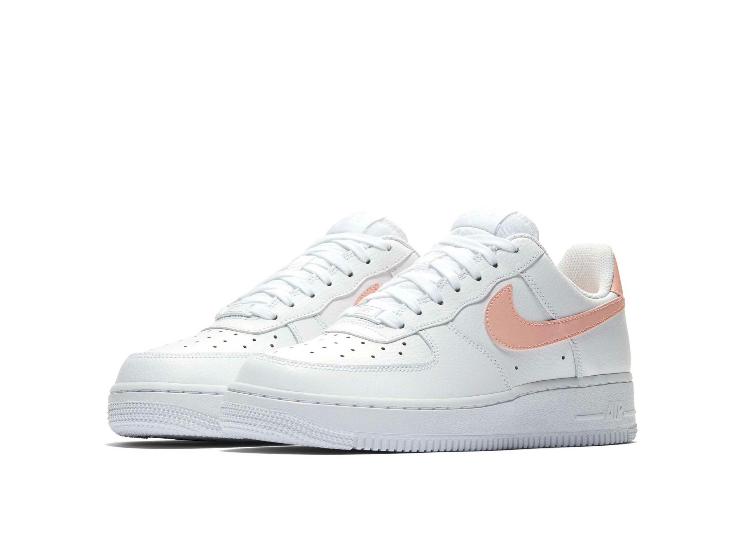 nike air force 1 07 white pink ah0287_102 купить