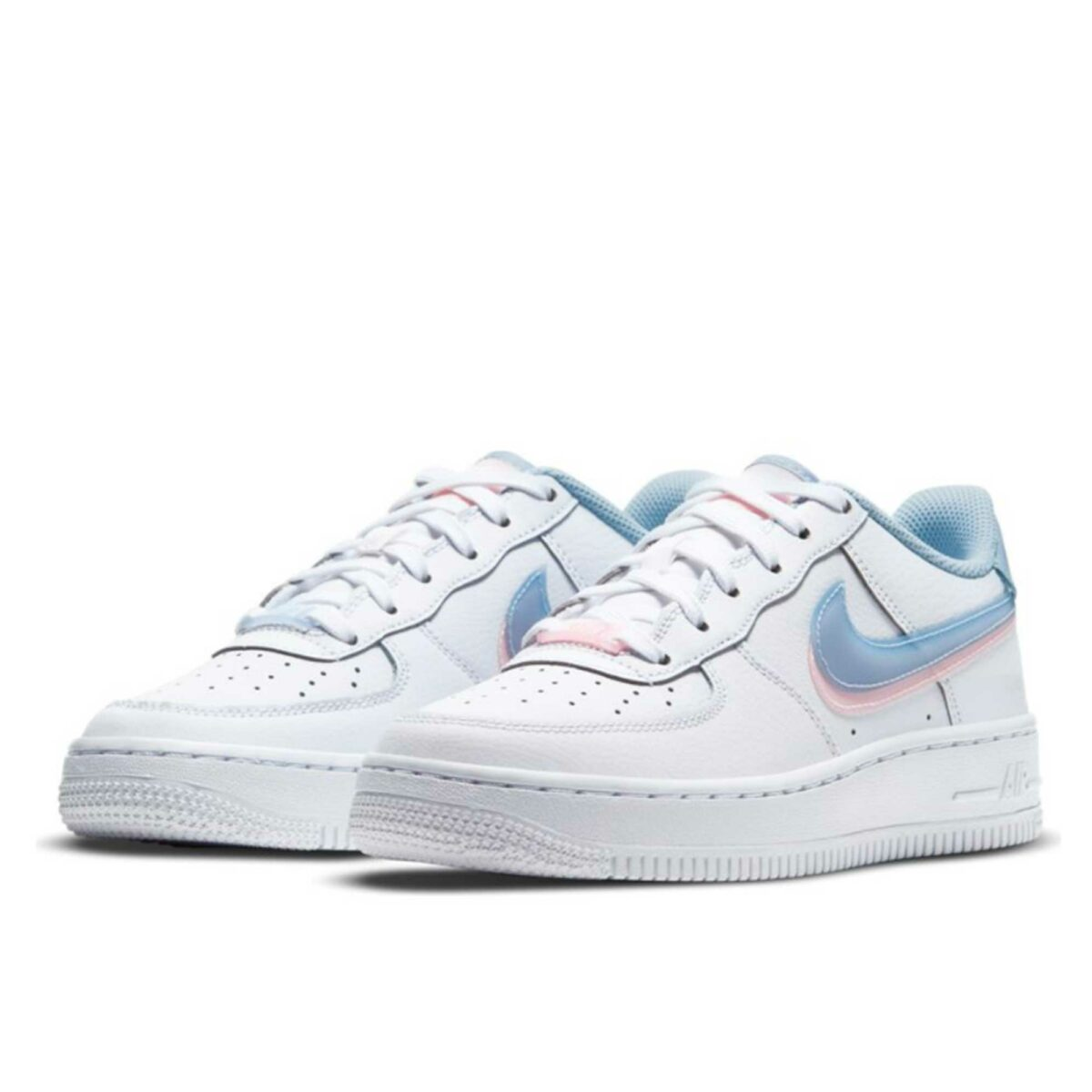 nike air force 1 lv8 gs white ight armory blue cw1574_100 купить