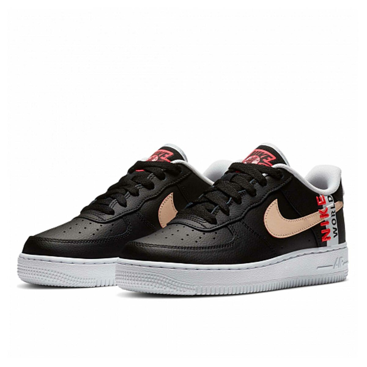 nike air force 1 lv8 worldwide black crimson white cn8536_001 купить