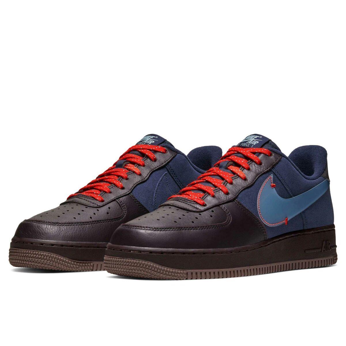 nike air force 1 premium black blue cq6367_600 купить