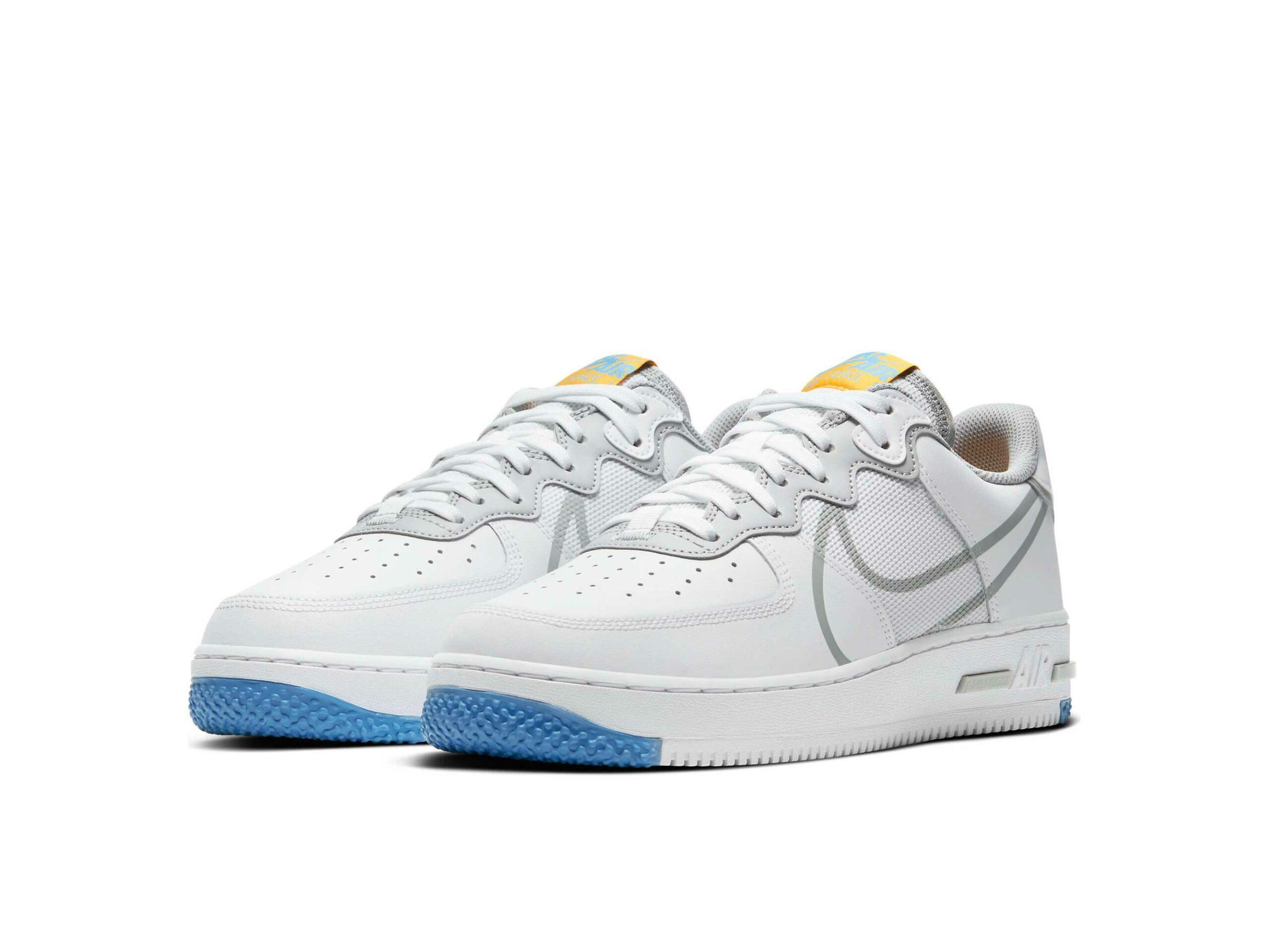 nike air force 1 react white smoke grey ct1020_100 купить
