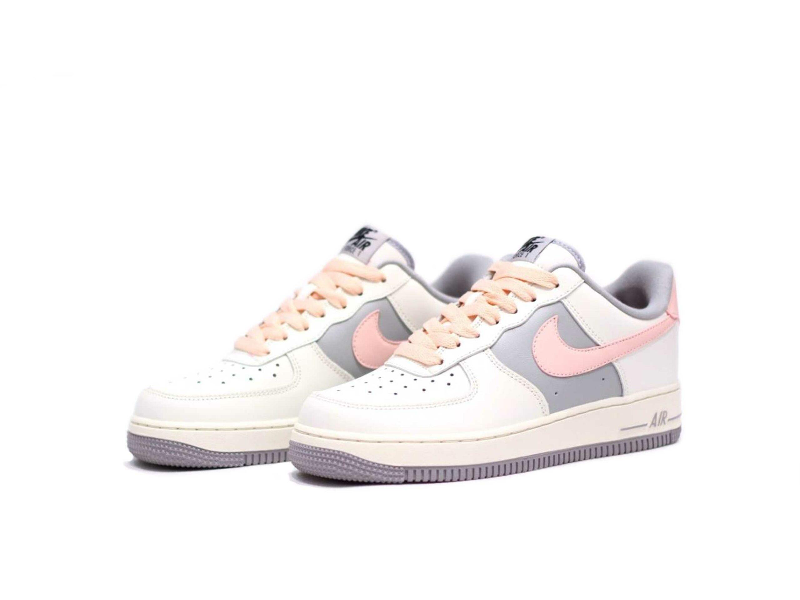 nike air force 1 beige grey pink cw7584_101 купить
