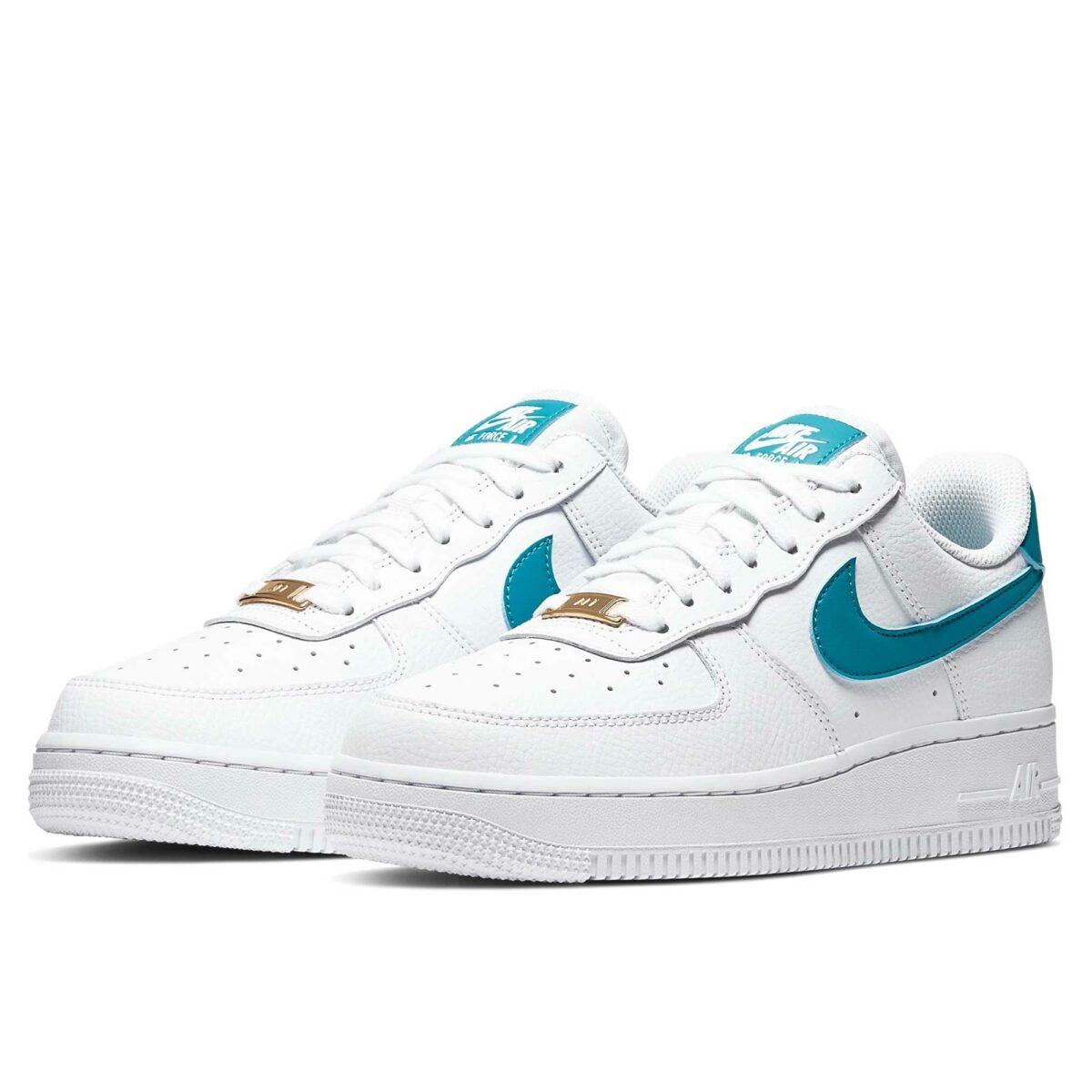 nike air force 1 white blue ah0287_109 купить