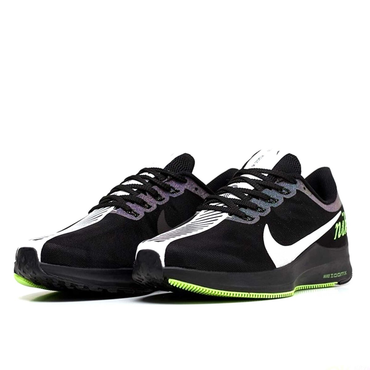 nike zoom pegasus 35 turbo black green купить