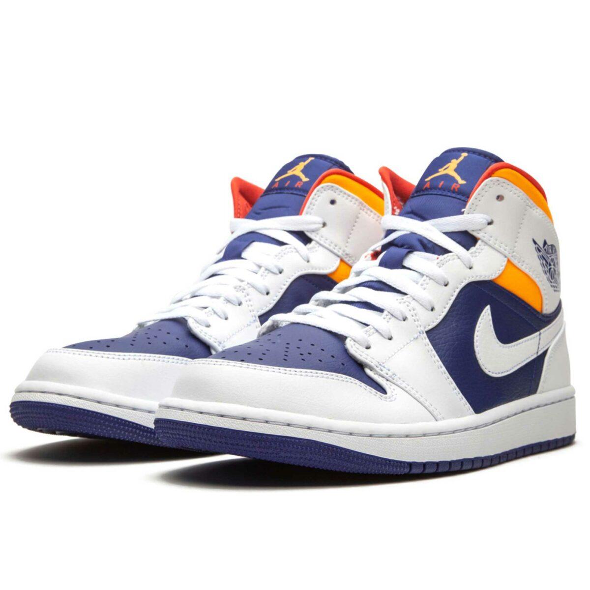 nike air Jordan 1 mid royal blue laser orange 554724_131 купить